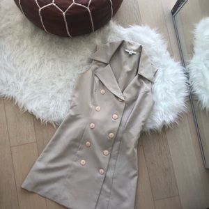 Vintage beige trench dress
